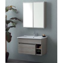 MEUBLE NATURE MARRON CL 80 SC + MIROIR