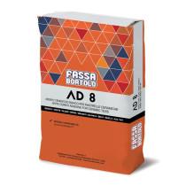 MORTIER COLLE ADHESIF AD8 BLANC (25kg) FASSA